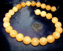 27 15MM LARGEST HIMALAYA GOLD AZEZTULITE STONE BEADS STRAND Guarantee H&E in VT